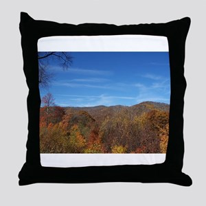 Fall Colors - NC / TN Mountains Throw Pillow