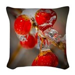 Viburnum Berries Covered with Woven Throw Pillow