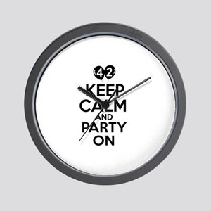 Funny 42 year old gift ideas Wall Clock