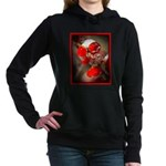 Viburnum Berries Covered Women's Hooded Sweatshirt