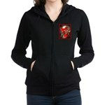 Viburnum Berries Covered with I Women's Zip Hoodie