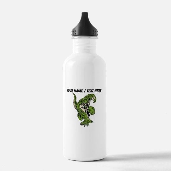 Custom Alligator Mascot Water Bottle