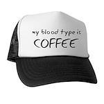 My Blood Type Is Coffee Trucker Hat