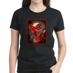 Viburnum Berries Covered with Women's Dark T-Shirt
