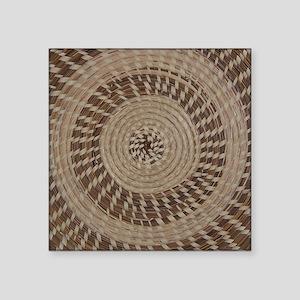 Sweetgrass Basket Design Sticker