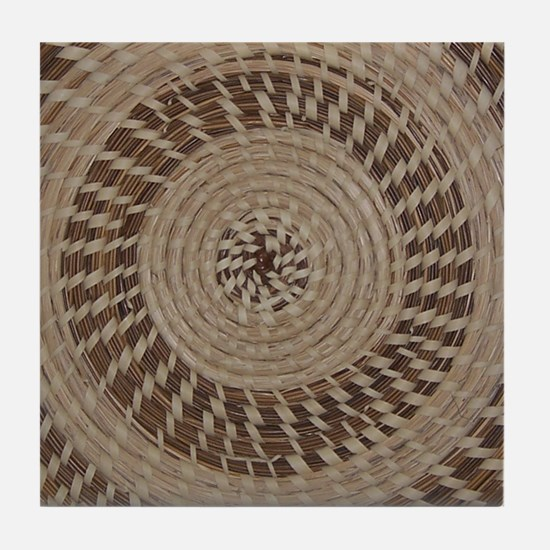 Sweetgrass Basket Design Tile Coaster