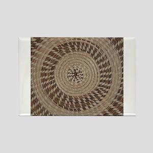 Sweetgrass Basket Design Rectangle Magnet