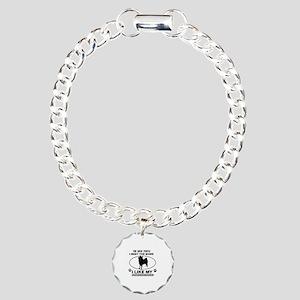 Norwegian Elkhound lover designs Charm Bracelet, O
