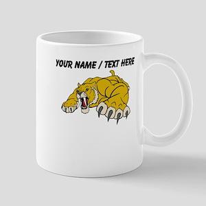 Custom Saber Tooth Tiger Mascot Mug