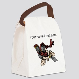 Custom Roman Warrior Canvas Lunch Bag