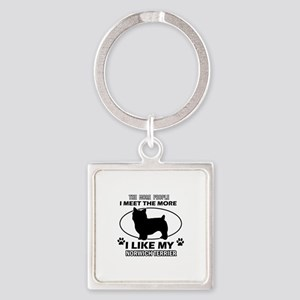 Norwich Terrier lover designs Square Keychain