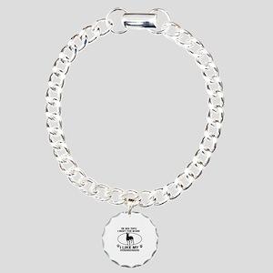Manchester Terrier lover designs Charm Bracelet, O