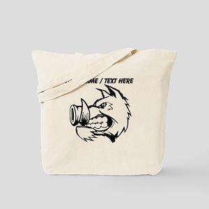 Custom Razorback Mascot Tote Bag