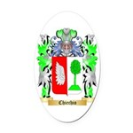 Chiechio Oval Car Magnet