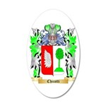 Chicotti 20x12 Oval Wall Decal