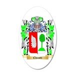 Chicotti 35x21 Oval Wall Decal