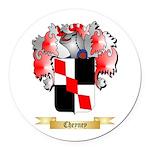 Cheyney Round Car Magnet