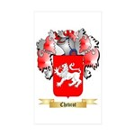 Chevrot Sticker (Rectangle 50 pk)
