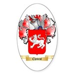 Chevrot Sticker (Oval 50 pk)