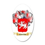 Chevrillon 20x12 Oval Wall Decal