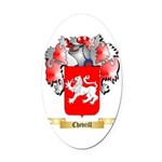 Chevrill Oval Car Magnet