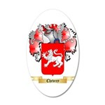 Chevrey 35x21 Oval Wall Decal