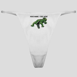 Custom Angry Alligator Classic Thong