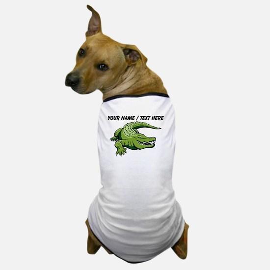 Custom Green Alligator Cartoon Dog T-Shirt
