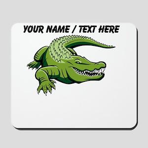 Custom Green Alligator Cartoon Mousepad