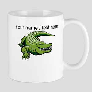 Custom Green Alligator Cartoon Mug