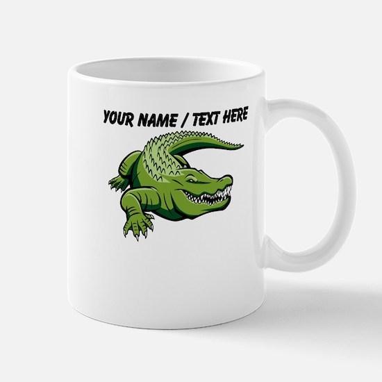 Custom Green Alligator Cartoon Mug