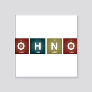 Oh no! Periodic table style. Sticker