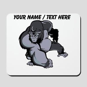 Custom Gorilla Mascot Mousepad