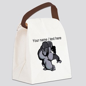 Custom Gorilla Mascot Canvas Lunch Bag