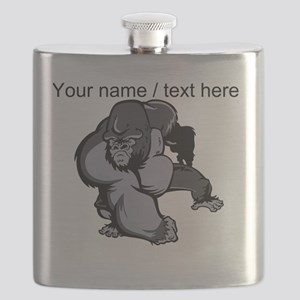 Custom Gorilla Mascot Flask