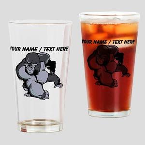 Custom Gorilla Mascot Drinking Glass