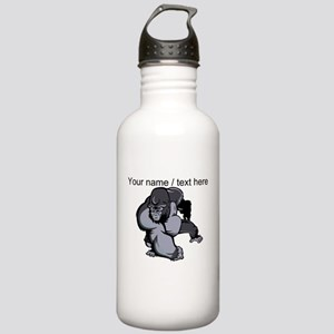 Custom Gorilla Mascot Water Bottle
