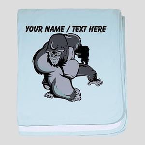 Custom Gorilla Mascot baby blanket