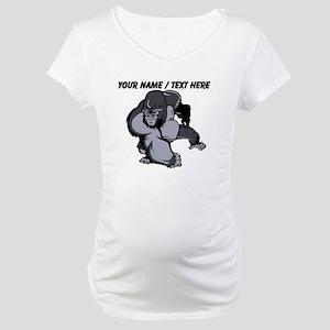 Custom Gorilla Mascot Maternity T-Shirt