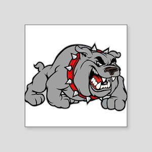 grey bulldog Sticker