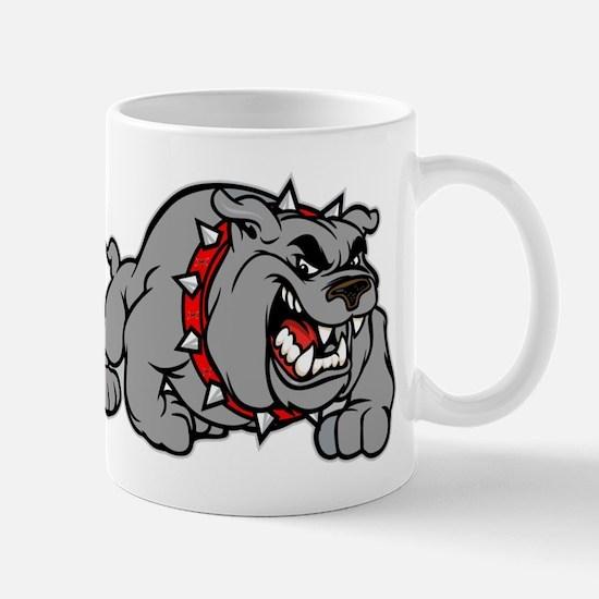 grey bulldog Mug