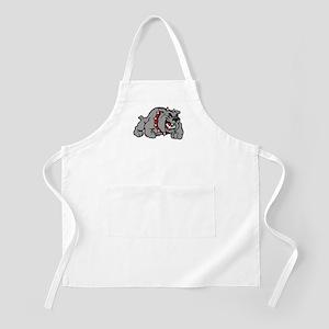 grey bulldog Apron