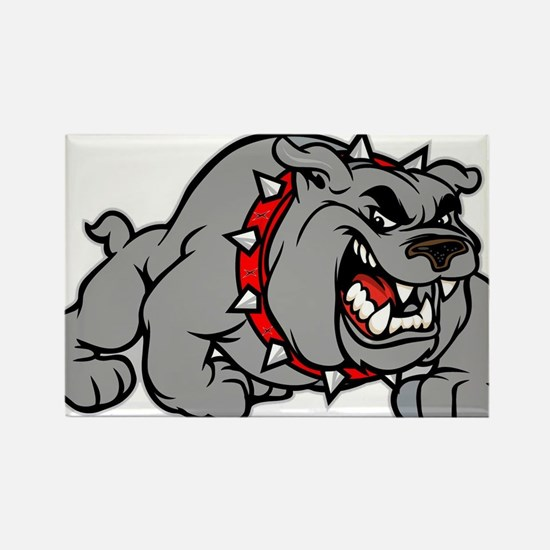 grey bulldog Rectangle Magnet