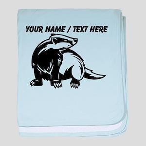 Custom Honey Badger baby blanket