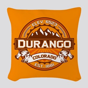 Durango Tangerine Woven Throw Pillow