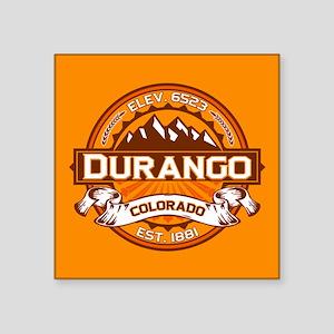 "Durango Tangerine Square Sticker 3"" x 3"""