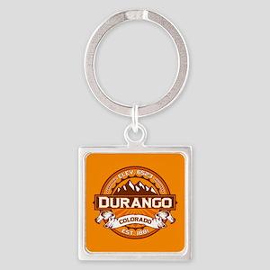 Durango Tangerine Square Keychain