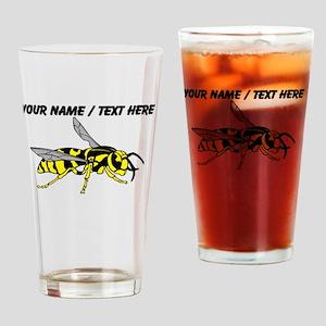 Custom Yellow Jacket Drinking Glass