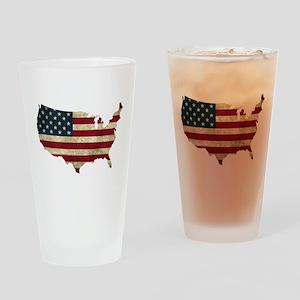 Vintage USA Drinking Glass
