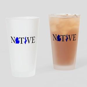 Native Michigander Drinking Glass